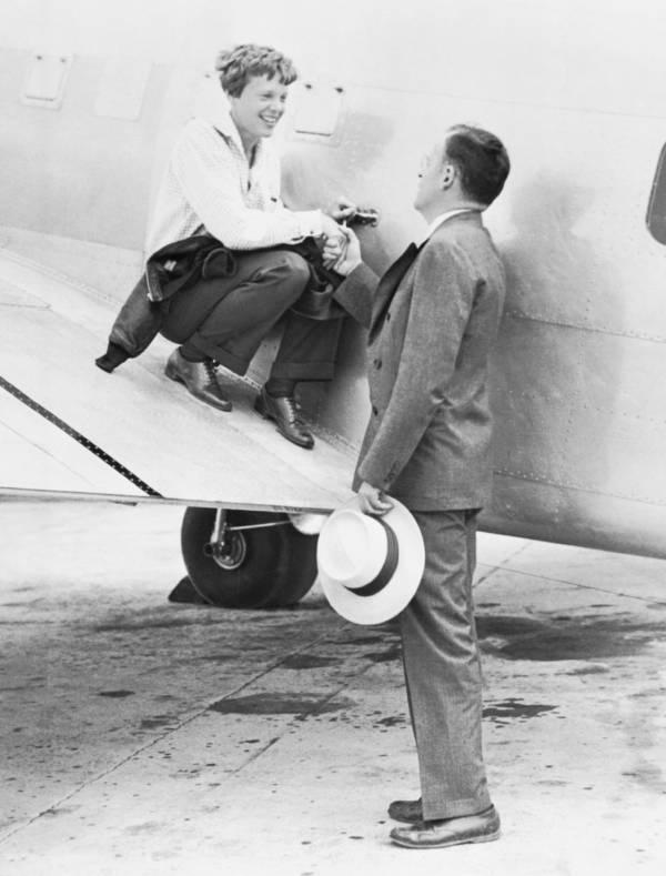 Amelia Earhart Before Her Flight