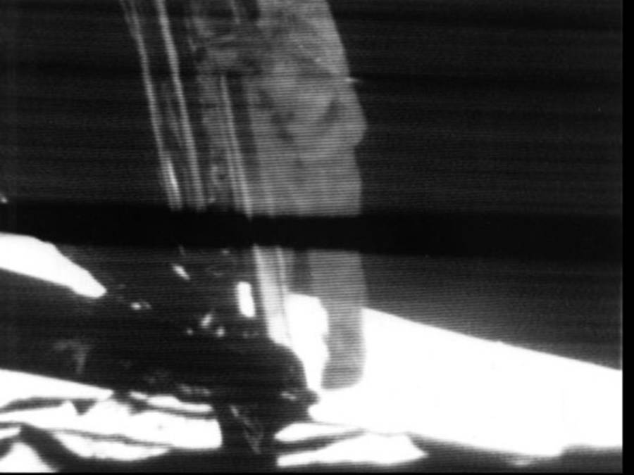 Armstrong Steps Onto Moon