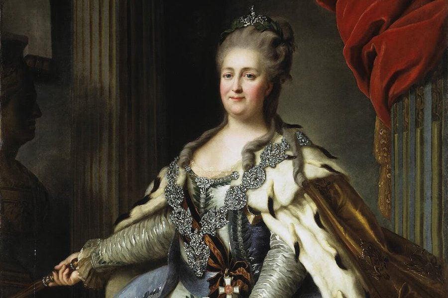 Catherine II FRokotov After Roslin 1770 Hermitage