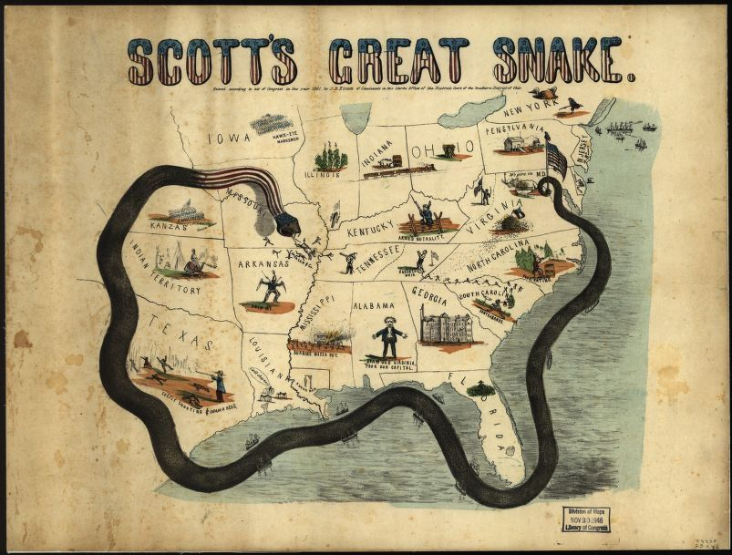 Anaconda Plan Union Invasion During Civil War