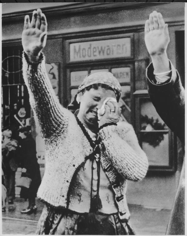 Crying Woman Heil Hitler