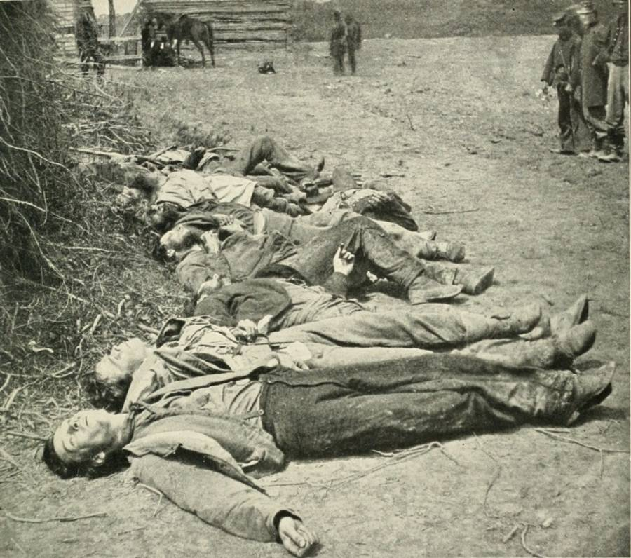 Dead At Battle Of Spotsylvania