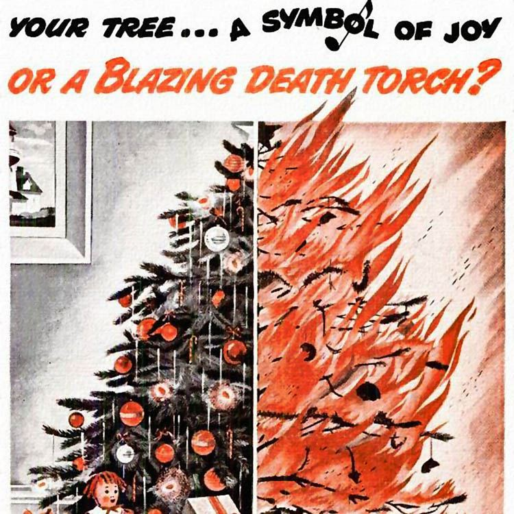 Weird Christmas Ads Death Torch