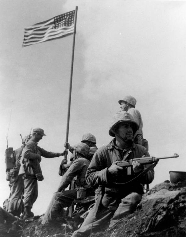 First Flag On Iwo Jima