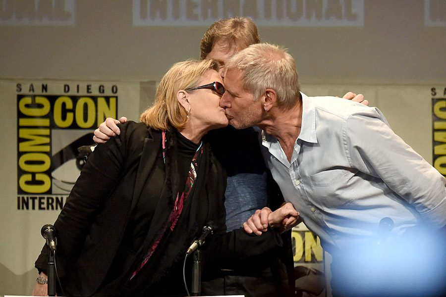 Harrison Ford Kisses Carrie Fisher Picture