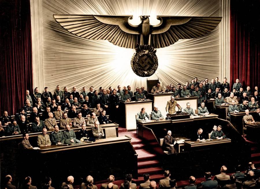 Hitler Addresses Reichstag