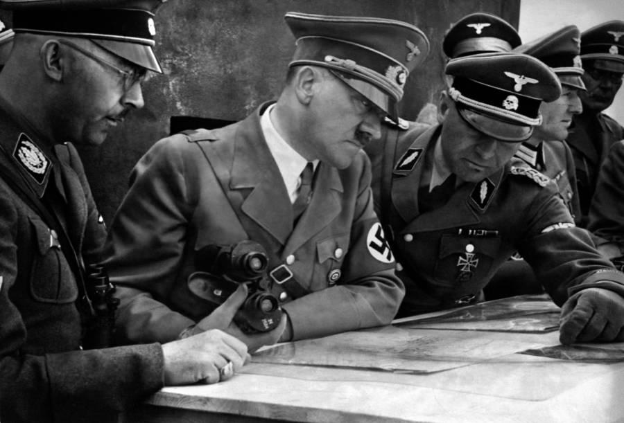 Hitler Surveying Map