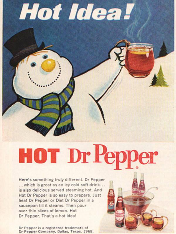 Weird Christmas Ads Hot Dr Pepper