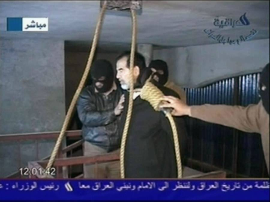 Saddam Hussein About To Be Hanged
