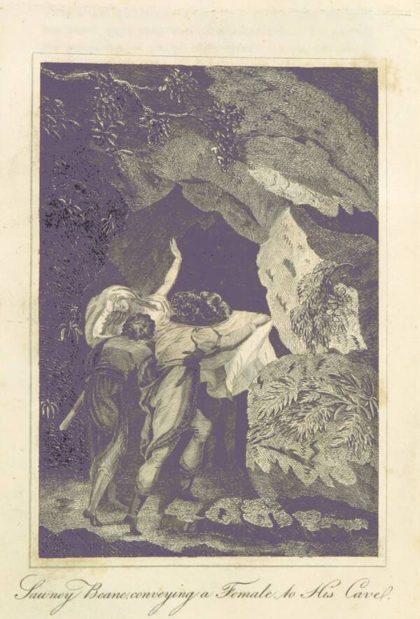 Illustration Of Sawney Bean Eating A Woman