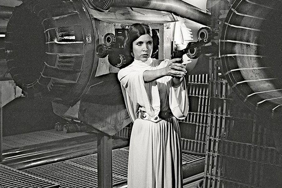 Carrie Fisher Leia Blaster