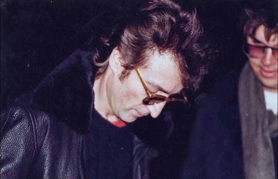 John Lennon With Mark David Chapman