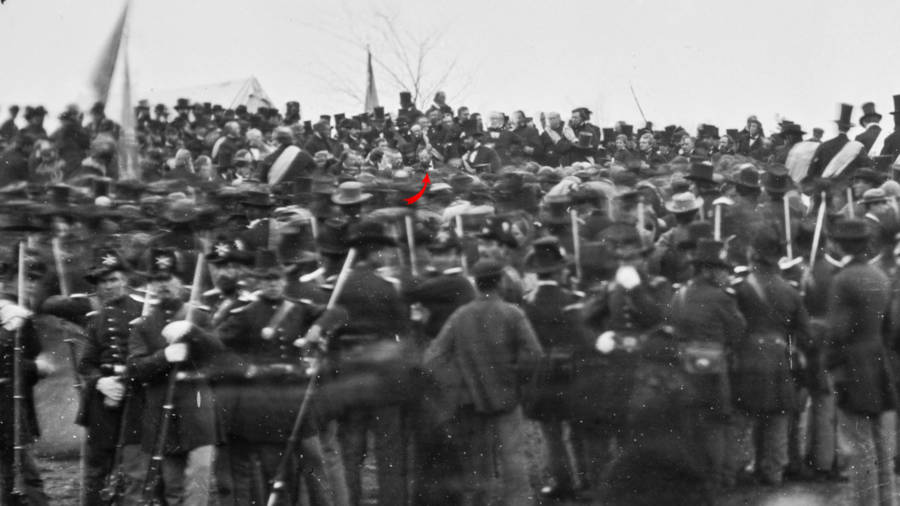 Photograph Of The Gettysburg Address