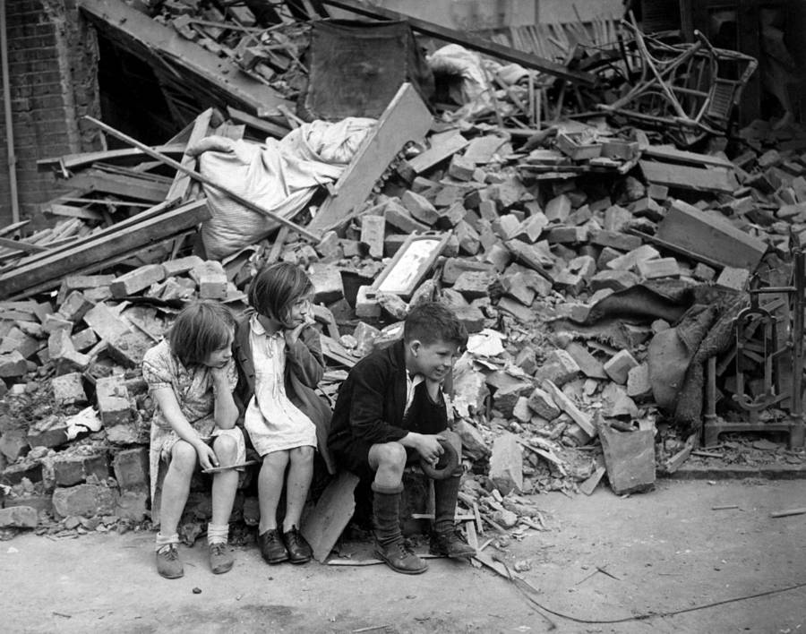Children During London Blitz