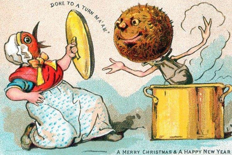 Weird Christmas Ads Meatball Pan