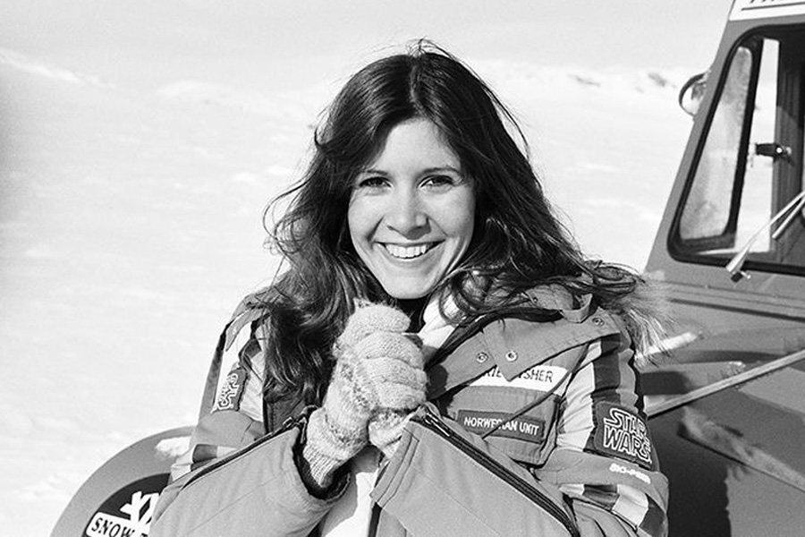 Picture Of Carrie Fisher From Empire Strikes Back
