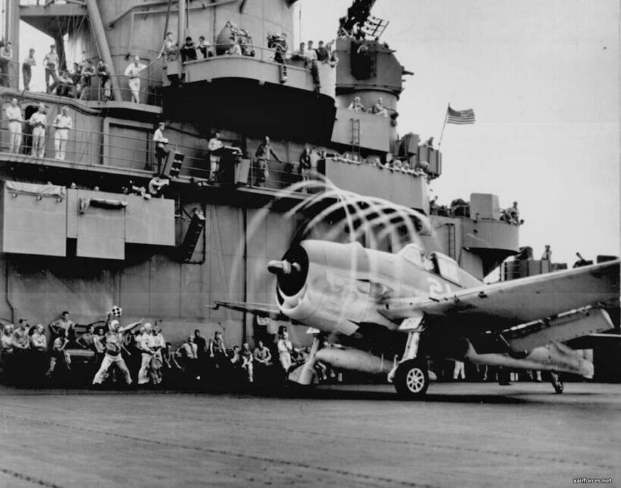 Plane On Ship Deck