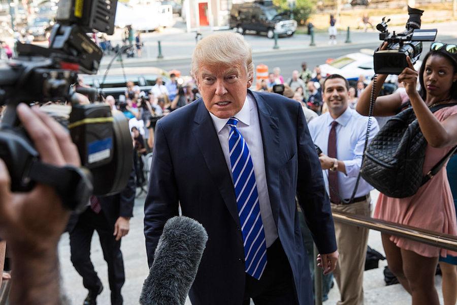 Trump On Steps