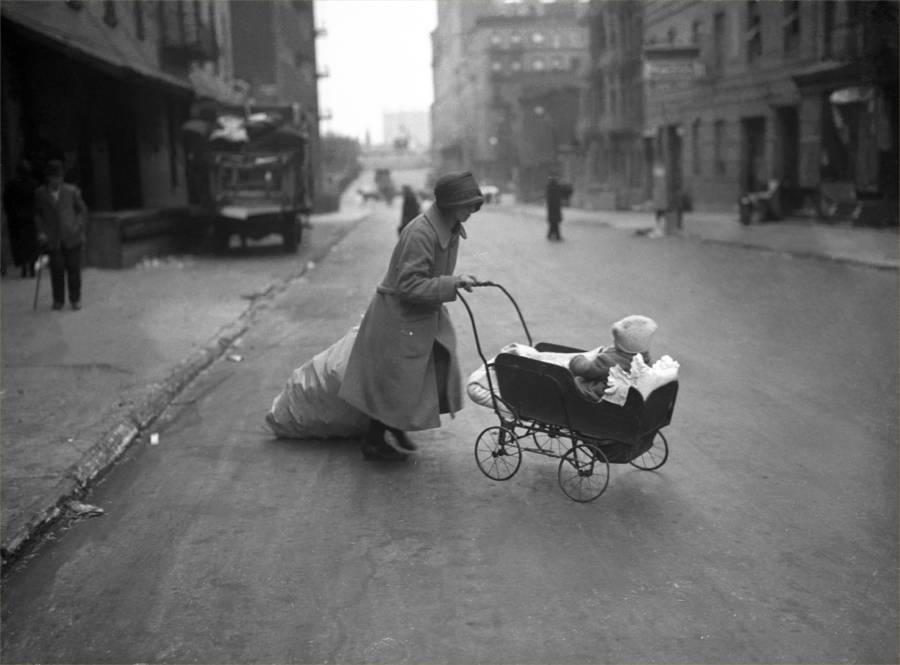 Woman Bag Stroller Street