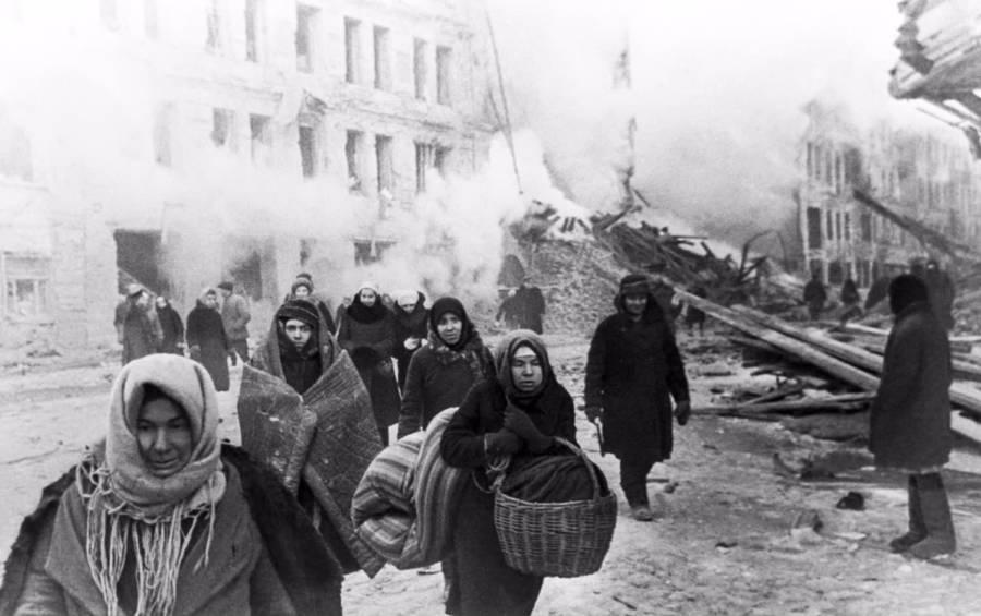 Soviet Women With Baskets