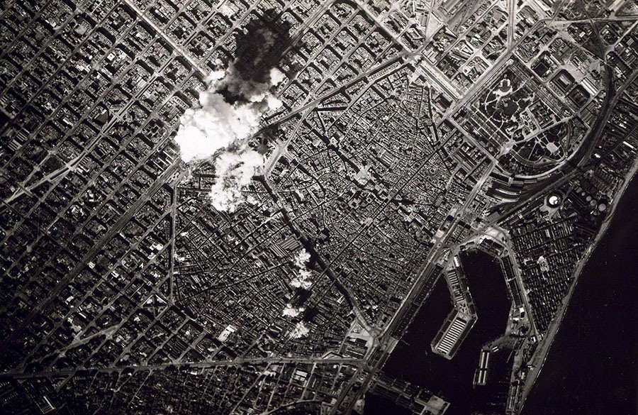 Bombing In Barcelona, 1938. Wiki Commons