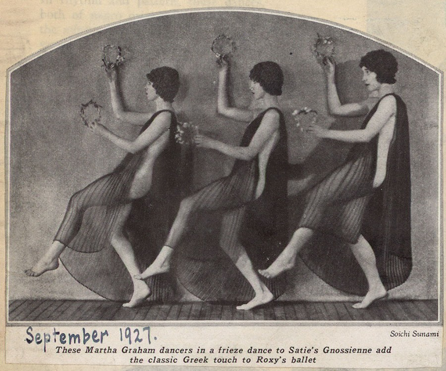 Martha Graham Dancers Performing Satie's Gnossienne