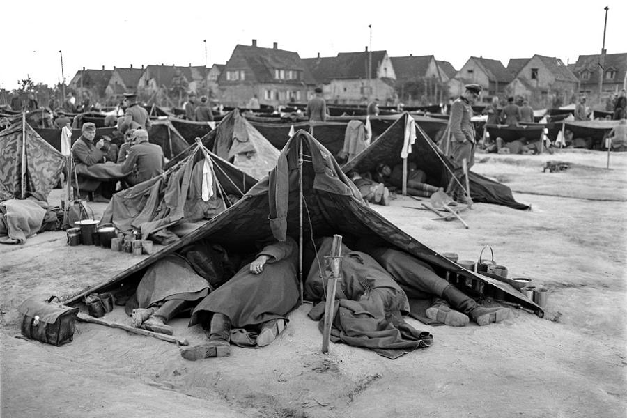 Allied Camp Crowded Tent