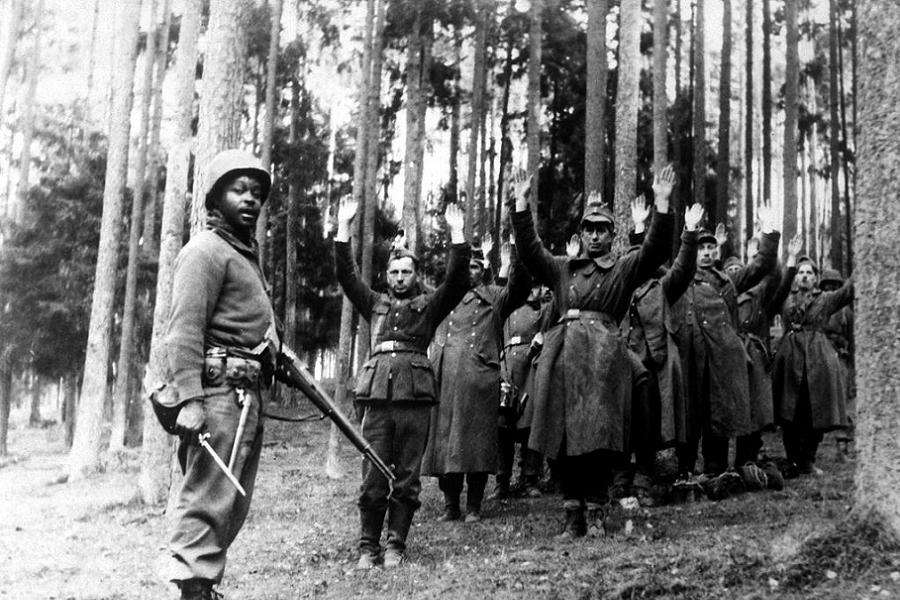 Allied Camp Surrendering Germans