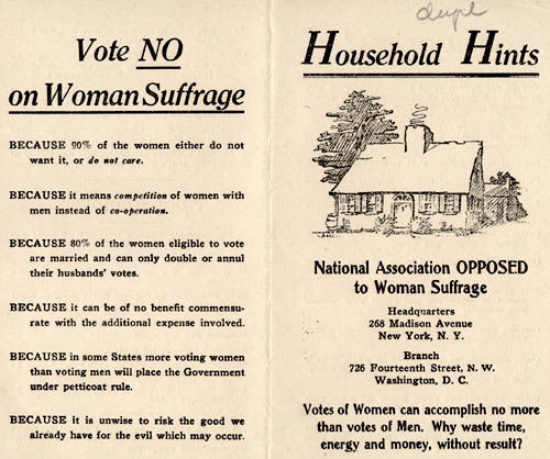 Anti-Suffrage Pamphlet