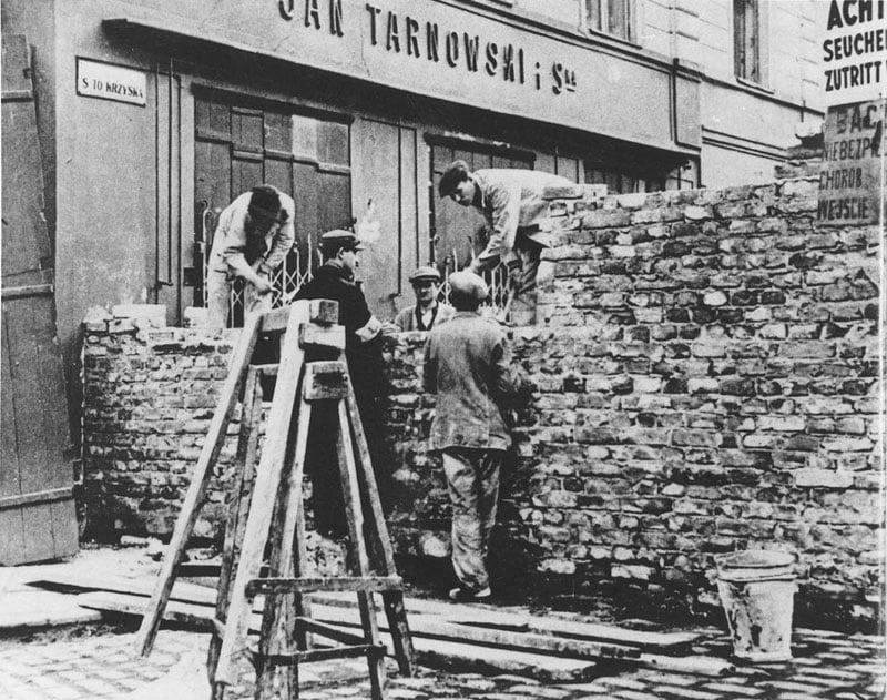 Brick Wall At Ghetto Entrance