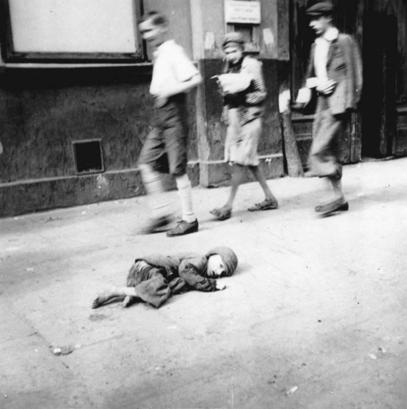 Starving Child On Sidewalk