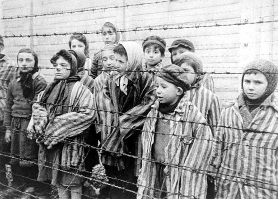 Children Behind Fence