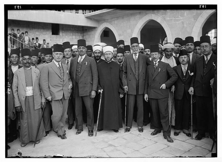 Arab Delegation In London In 1929