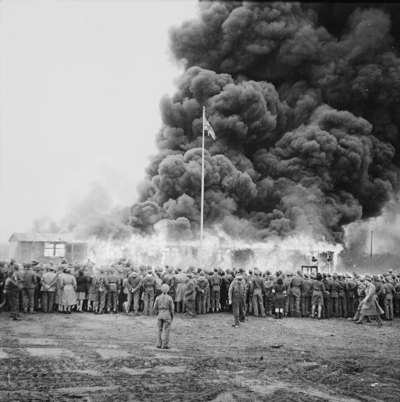 Fire At Bergen Belsen