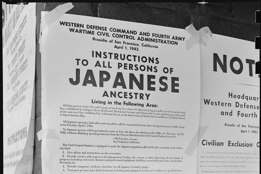 Japanese-American Internment Evacuation Order
