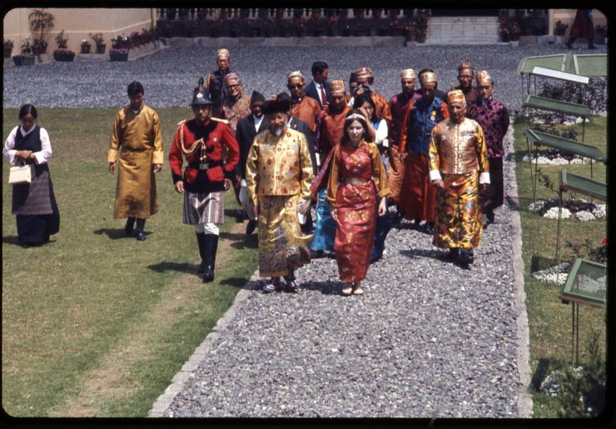 King And Queen Of SIkkim In 1971