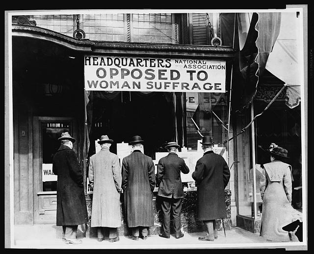 Opposed To Women Suffrage