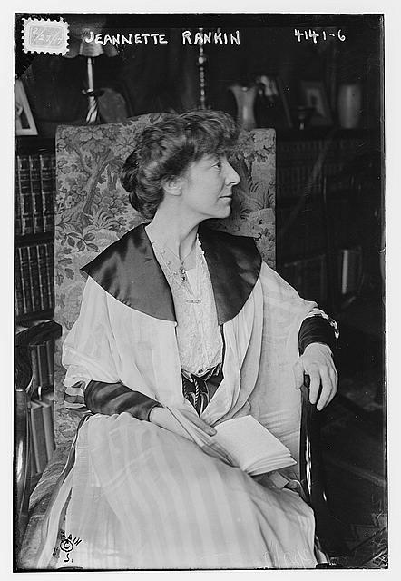 Photograph Of Jeannette Rankin In 1917