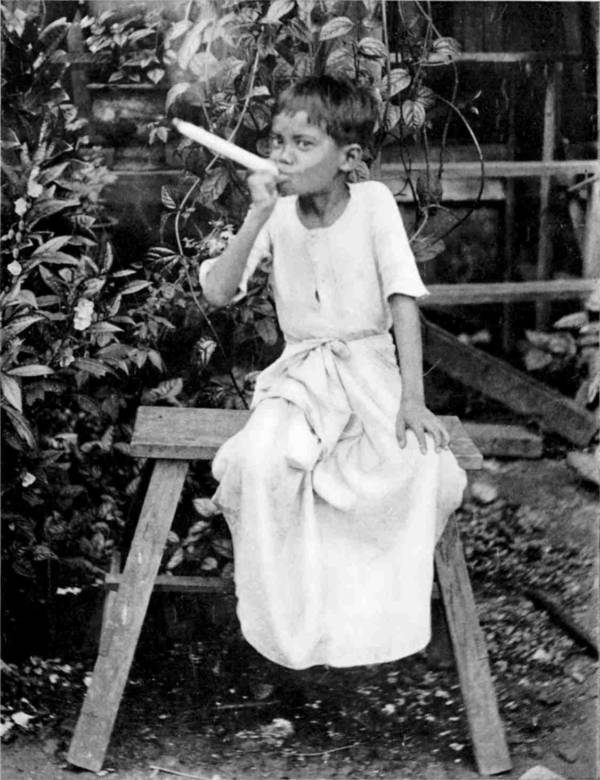 Burmese Child Kids Smoking