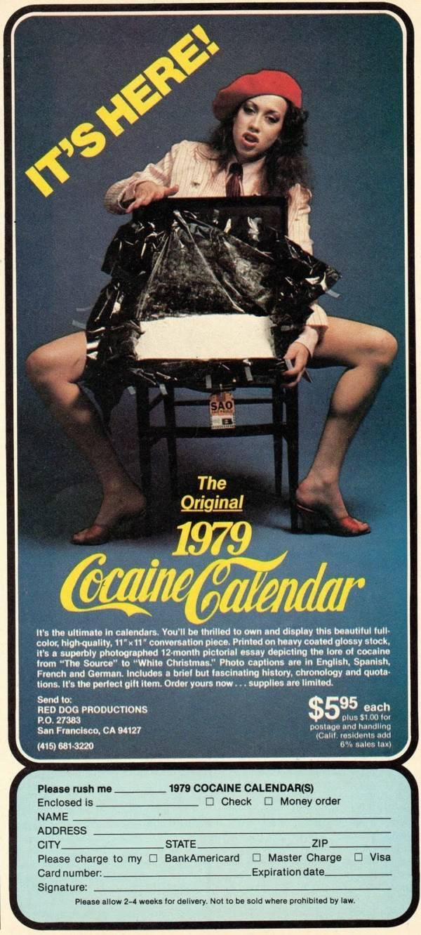 Cocaine Calender