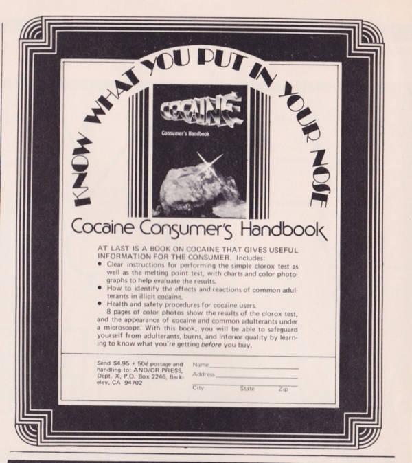 Cocaine Consumers Handbook