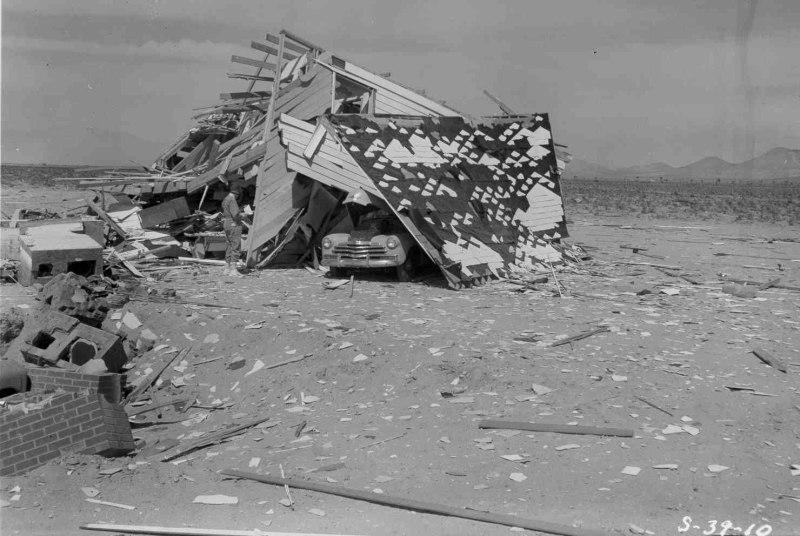 Demolished House On Car