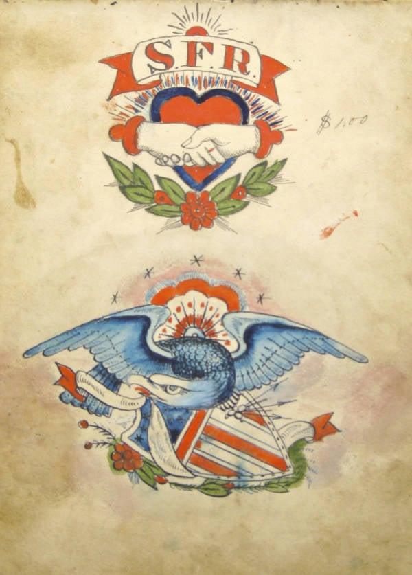 Eagle Shield Tattoo Design