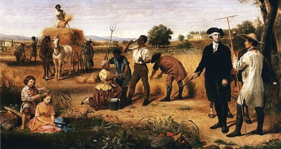 George Washington With His Slaves