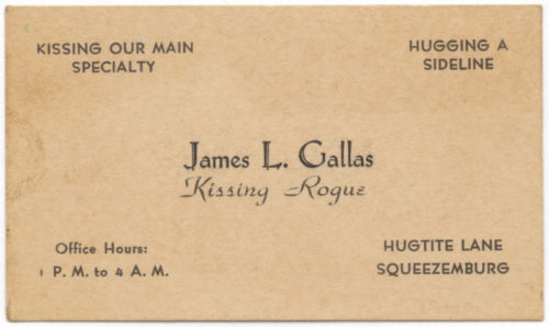 Victorian Escort Card