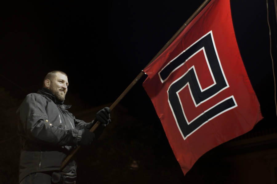 Golden Dawn Flag Red