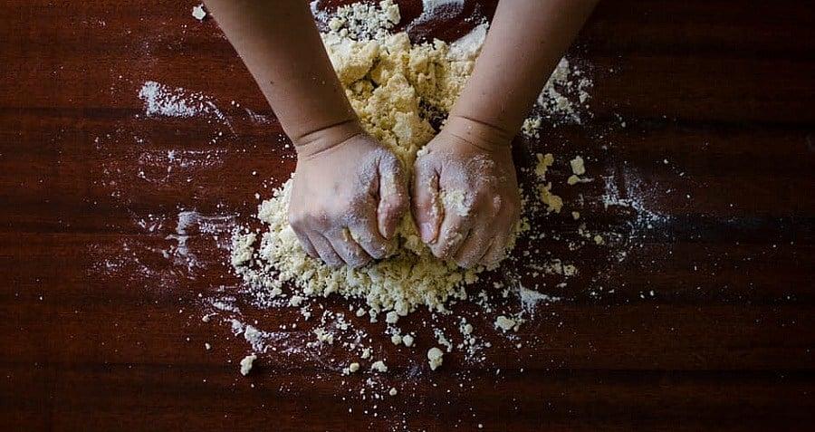 Hands Kneading Dough Flour Riot 1837