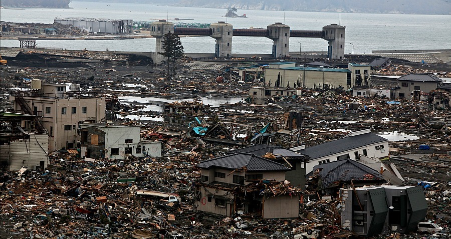 Japan Tsunami Disaster Phone Booth
