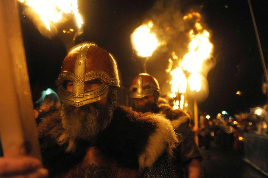 Real Vikings Torchlight Parade