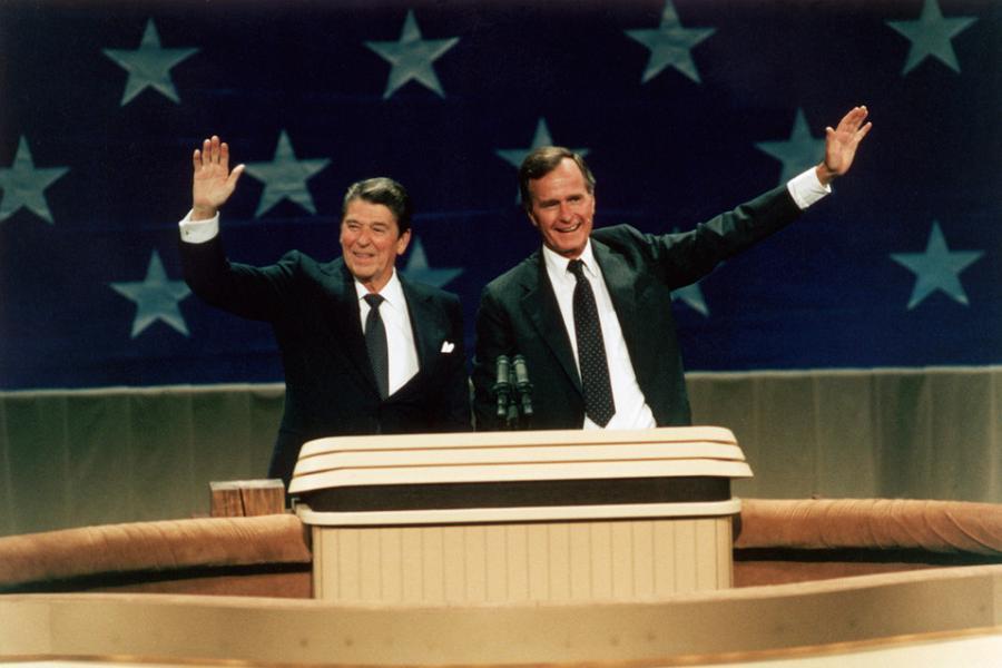 Ronald Reagan With Bush
